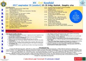 XV. Civil Kavalkád Programja végleges