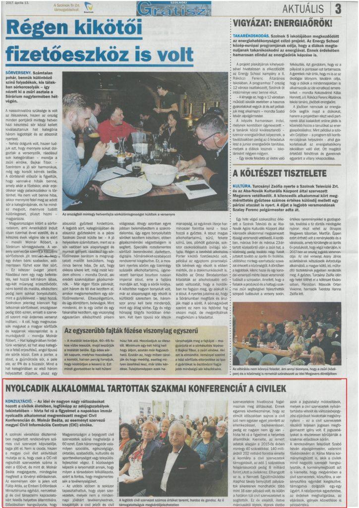 2017.04.13. JNSZ Megyei Civil Konferencia