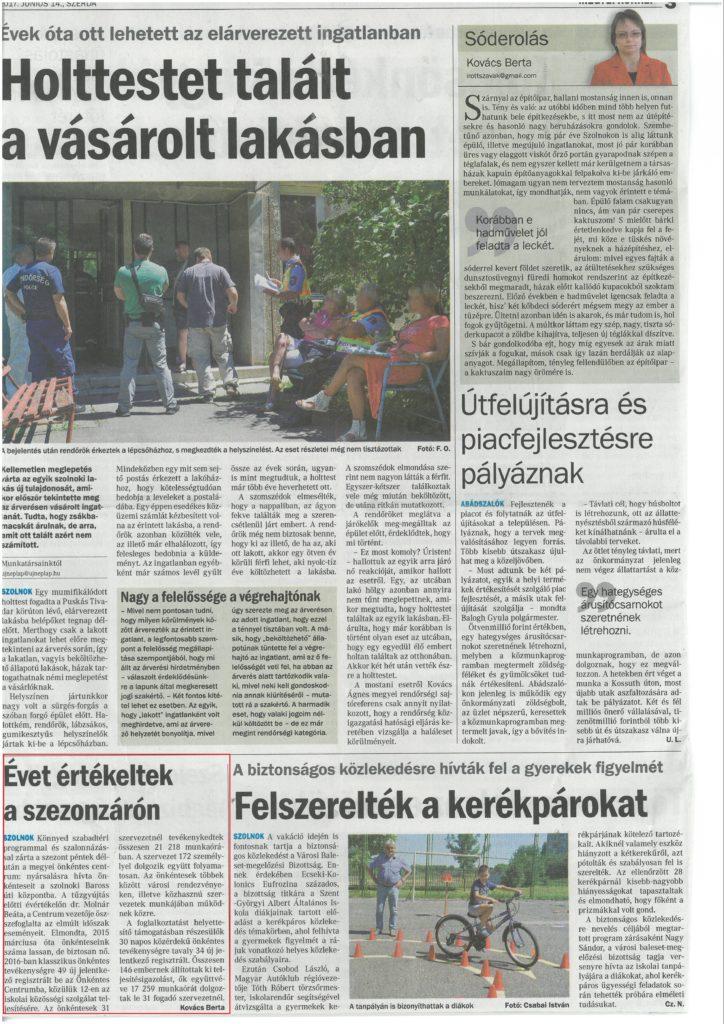 2017.06.14. Új Néplap- Évet értékeltek a szezonzárón