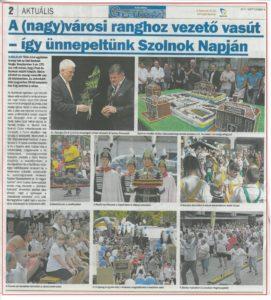 2017.09.08. Új Néplap Grátisz- Szolnok Napja