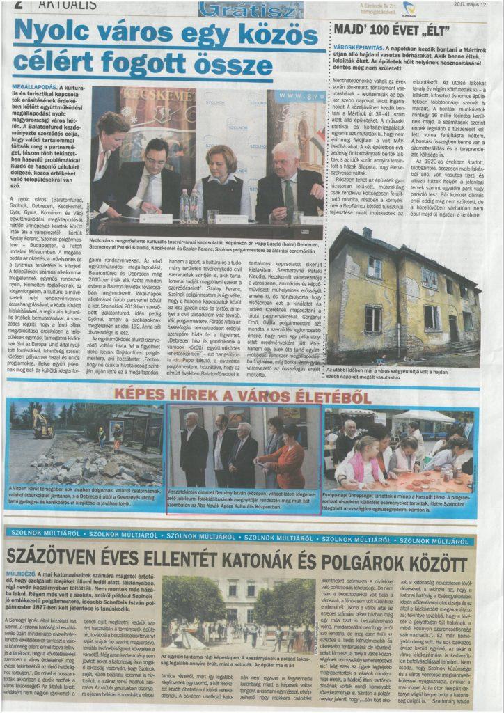 2017.05.12. Új Néplap-Grátisz. Képes hírek a város életéből